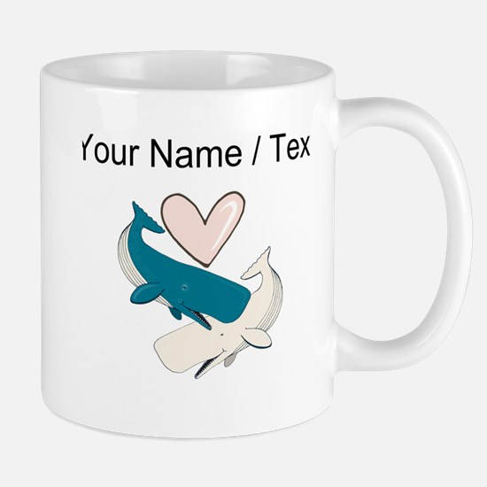 Custom Whale Love Mugs
