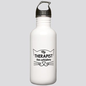 My therapist has whiskers Water Bottle
