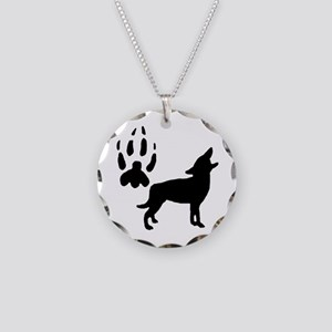 Wild Coyote Necklace Circle Charm