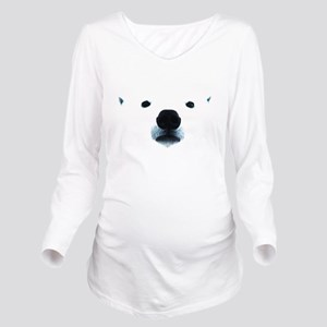 Polar Bear Face Long Sleeve Maternity T-Shirt