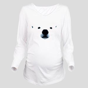Polar Bear Face Long Sleeve Maternity T-Shirt