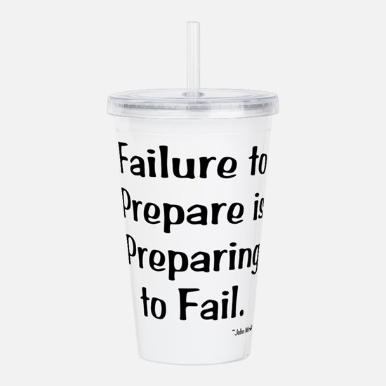 Failute to Prepare Acrylic Double-wall Tumbler