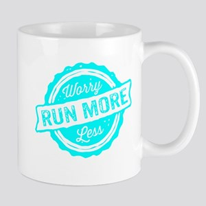 Run More Worry Less Mugs
