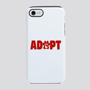 Cute Pets Paw Cat Dog Adopt Re iPhone 7 Tough Case