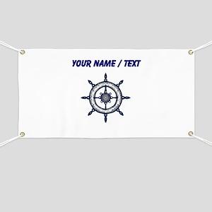 Custom Blue Ship Wheel Banner