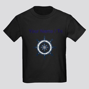 Custom Blue Ship Wheel T-Shirt