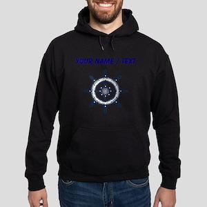 Custom Blue Ship Wheel Hoodie