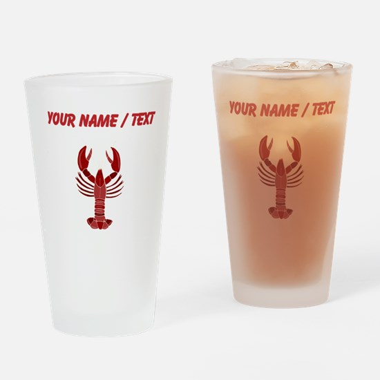 Custom Red Lobster Drinking Glass