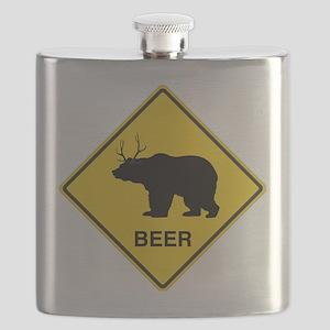 Beer bear deer Flask