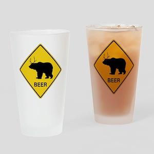 Beer bear deer Drinking Glass