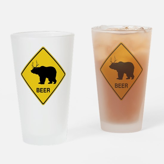 Beer bear deer Drinking Glass