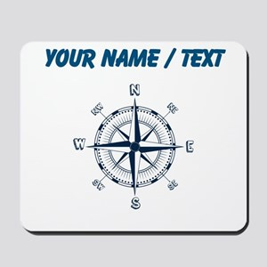 Custom Blue Compass Mousepad