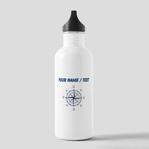 Custom Blue Compass Water Bottle