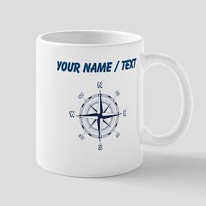 Custom Blue Compass Mugs