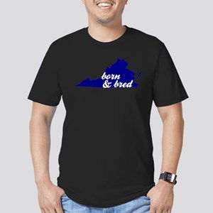 Born & Bred Men's Fitted T-Shirt (dark)