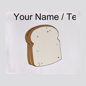 Custom Peanut Butter Sandwich Throw Blanket