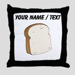 Custom Peanut Butter Sandwich Throw Pillow