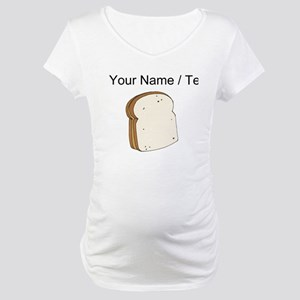 Custom Peanut Butter Sandwich Maternity T-Shirt
