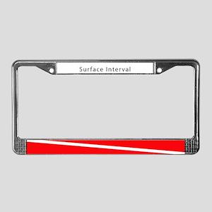 Surface Interval License Plate Frame