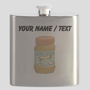 Custom Jar Of Peanut Butter Flask