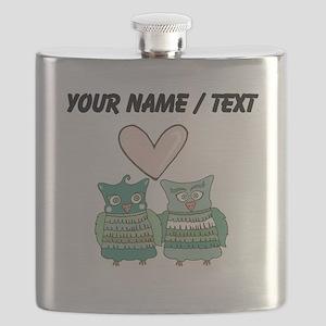 Custom Love Birds Flask