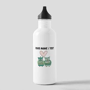 Custom Love Birds Water Bottle