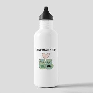 Custom Love Owls Water Bottle