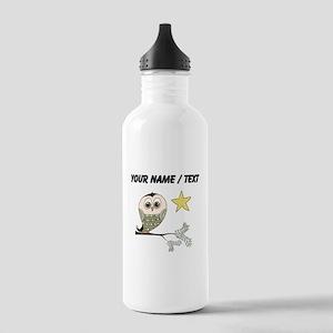 Custom Owl In Tree Water Bottle