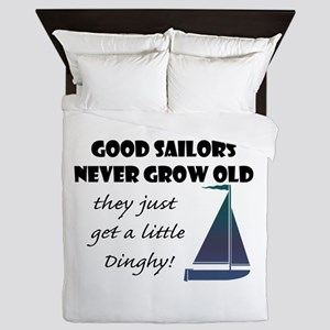 Good Sailors Never Grow Old, They Just Queen Duvet