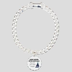 Good Sailors Never Grow Charm Bracelet, One Charm