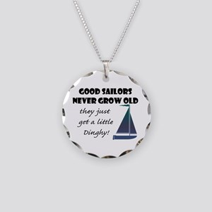 Good Sailors Never Grow Old, Necklace Circle Charm