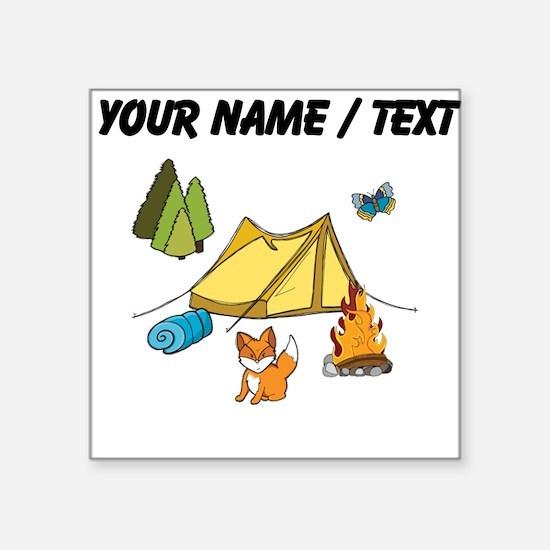 Custom Campsite Sticker