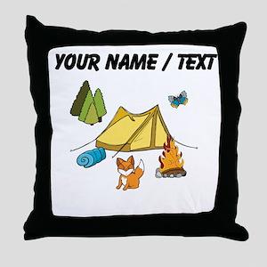 Custom Campsite Throw Pillow