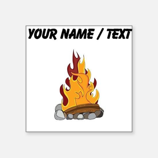 Custom Camp Fire Sticker