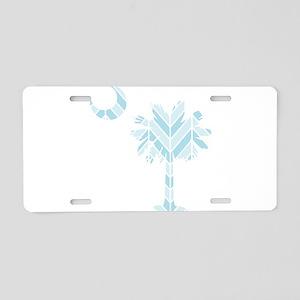 blue palmetto chevron Aluminum License Plate