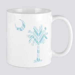 blue palmetto chevron Mug
