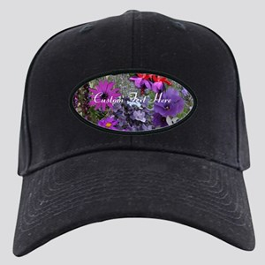 Purple Flowers to Customize Black Cap