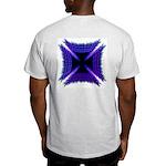 Blue Flaming Biker Cross Light T-Shirt