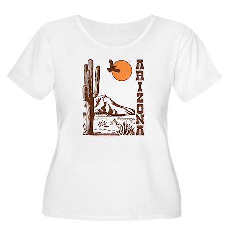 Arizona Women's Plus Size Scoop Neck T-Shirt
