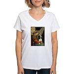Madonna & Tri Cavalier Women's V-Neck T-Shirt