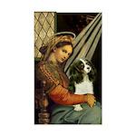 Madonna & Tri Cavalier Sticker (Rectangle)