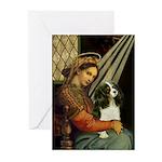Madonna & Tri Cavalier Greeting Cards (Pk of 10)