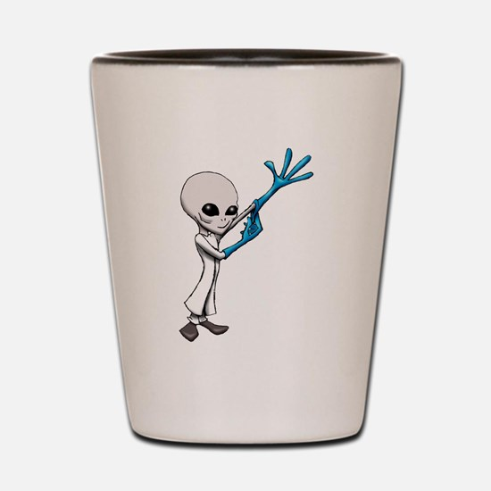 Alien Scientist Shot Glass