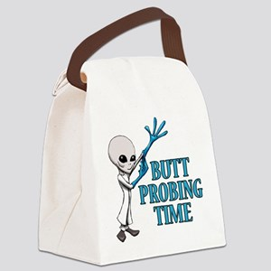 BUTT PROBING TIME Canvas Lunch Bag