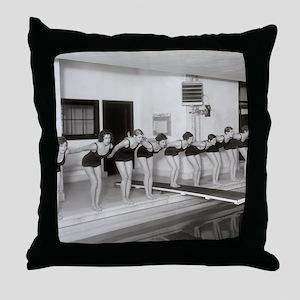 Girls Swim Team, 1930 Throw Pillow