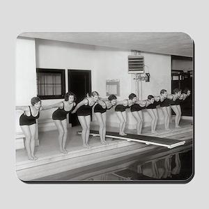 Girls Swim Team, 1930 Mousepad