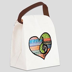 Original Music Heart Treble Clef  Canvas Lunch Bag