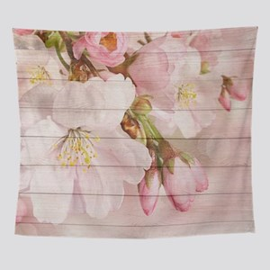 Romantic Vintage Shabby Chic Floral Wall Tapestry