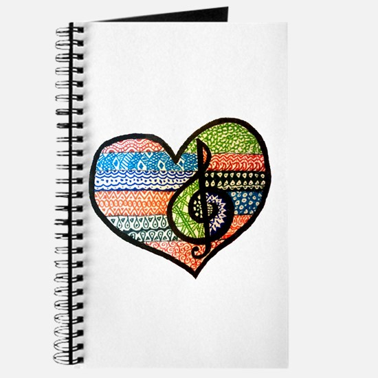 Cute Treble clef Journal