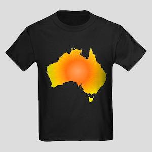 Sunny Australia Map T-Shirt
